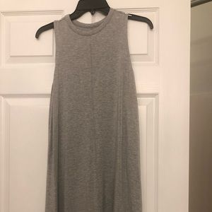 Grey, sleeveless t-shirt dress